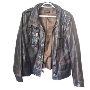 Brown Danier Genuine Leather Jacket